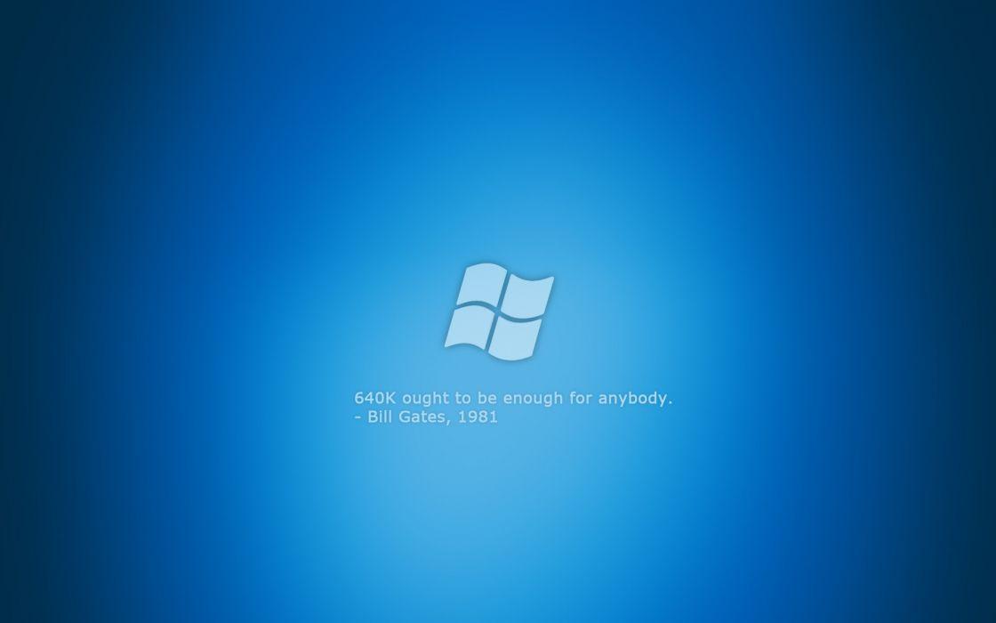 Blue quotes microsoft microsoft windows logos wallpaper