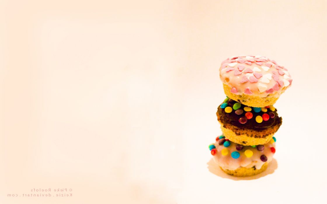 Candy cupcakes sweets (candies) desserts wallpaper