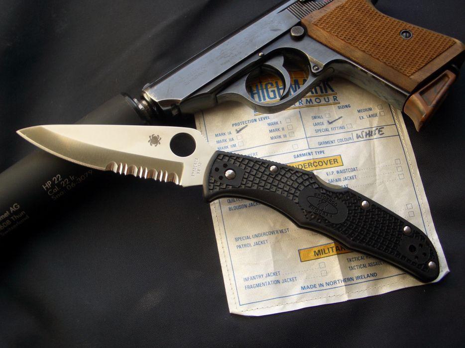 Guns edge weapons knives spyderco wallpaper