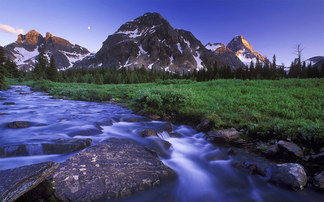Mountains landscapes grass rivers wallpaper