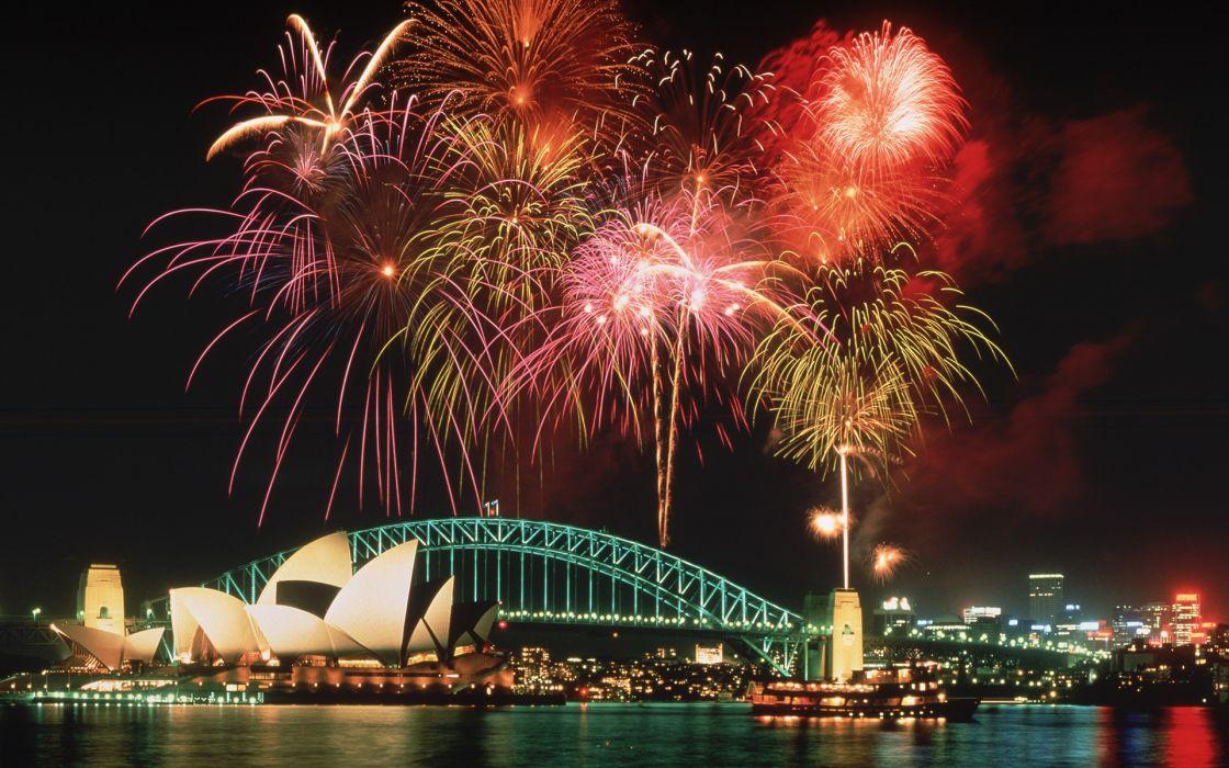Fireworks sydney australia cities wallpaper