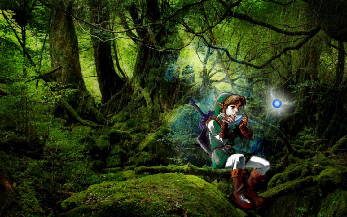 Trees rain forest link the legend of zelda navi wallpaper