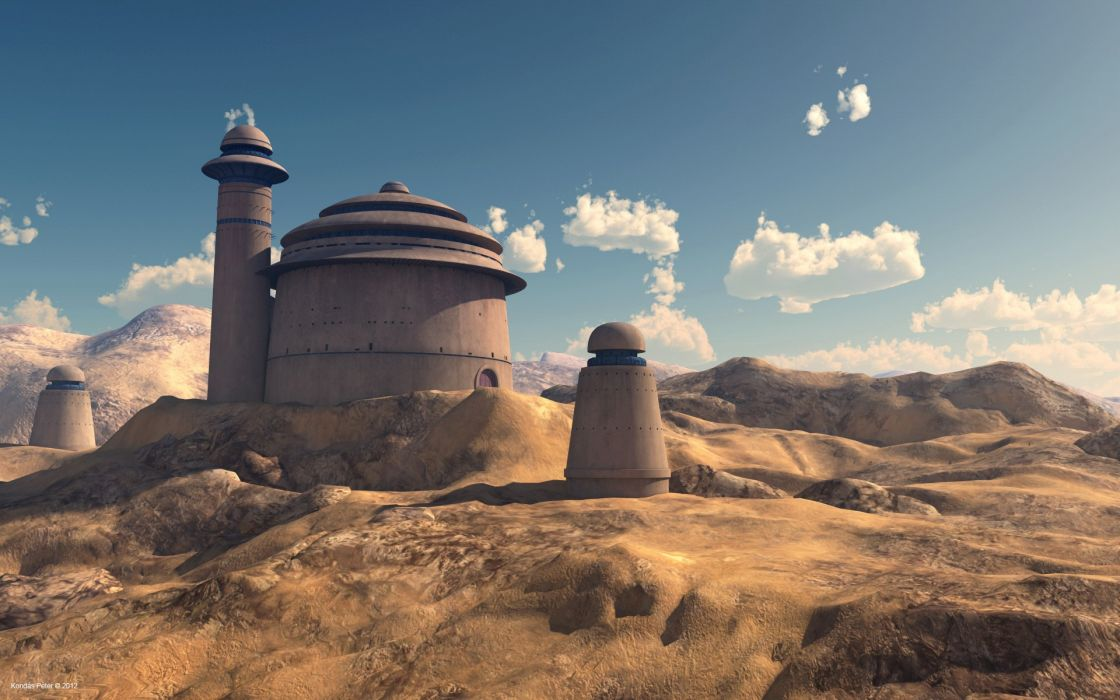 Star wars mountains clouds landscapes sand dark stars desert sith tatooine palace jabba wallpaper