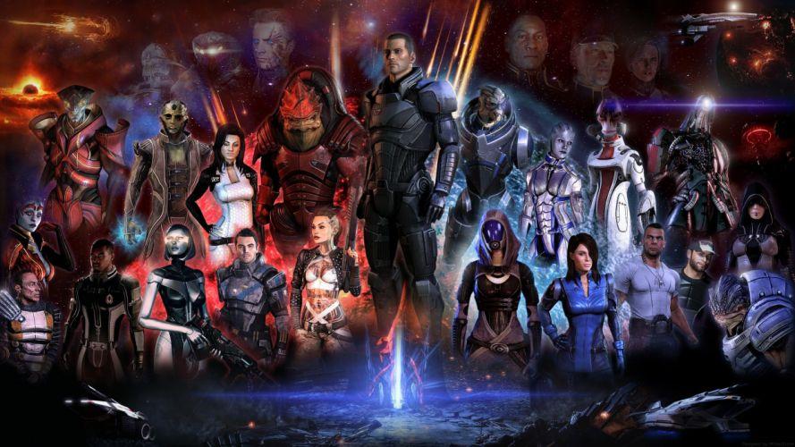 Video games mass effect fan art wallpaper