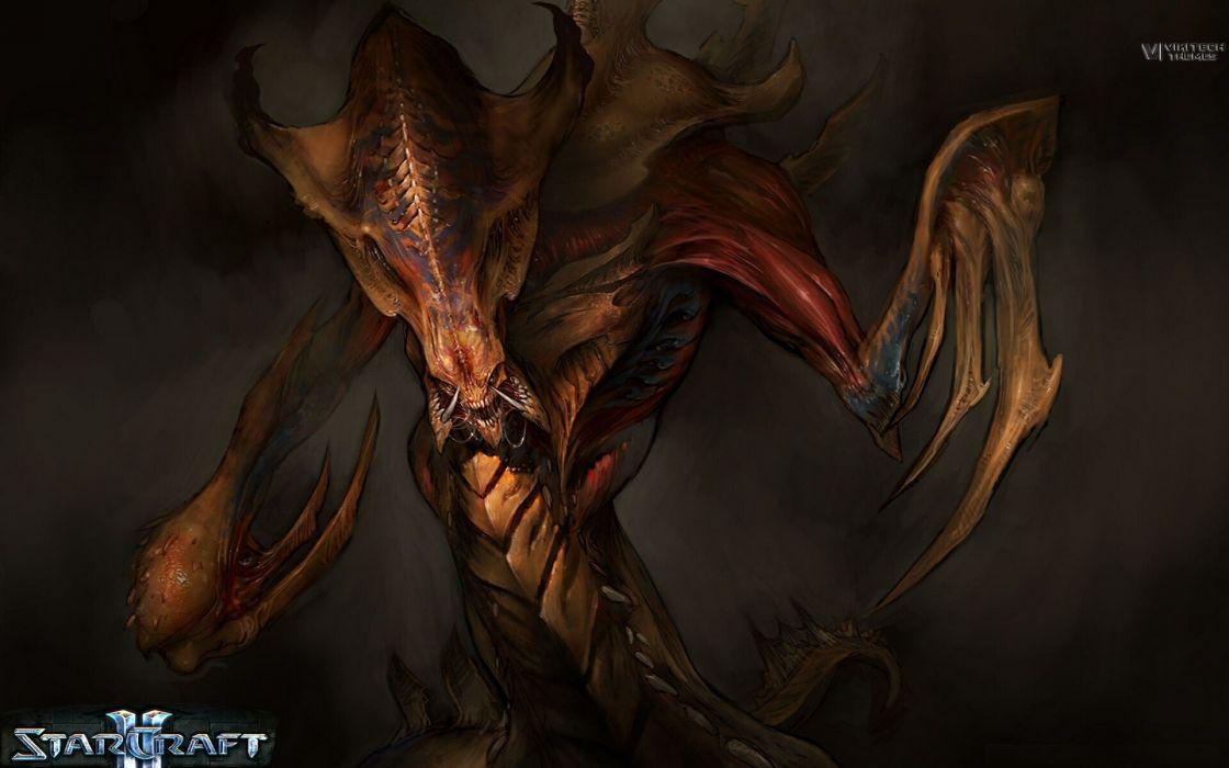 Video games starcraft zerg starcraft ii wallpaper