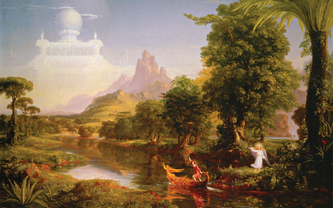 Paintings thomas cole the voyage of life wallpaper
