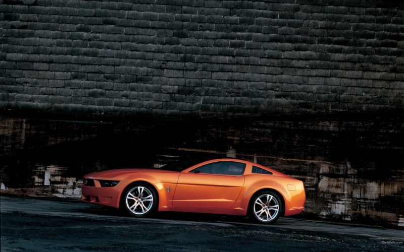 Cars orange vehicles ford mustang giugiaro wallpaper