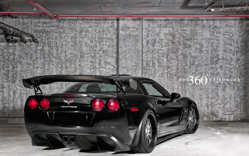 Black raptor cars vehicles supercars tuning chevrolet corvette 360 wheels chevrolet corvette z06 sport cars luxury sport cars speed automobiles wallpaper