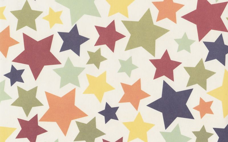 Multicolor stars wallpaper