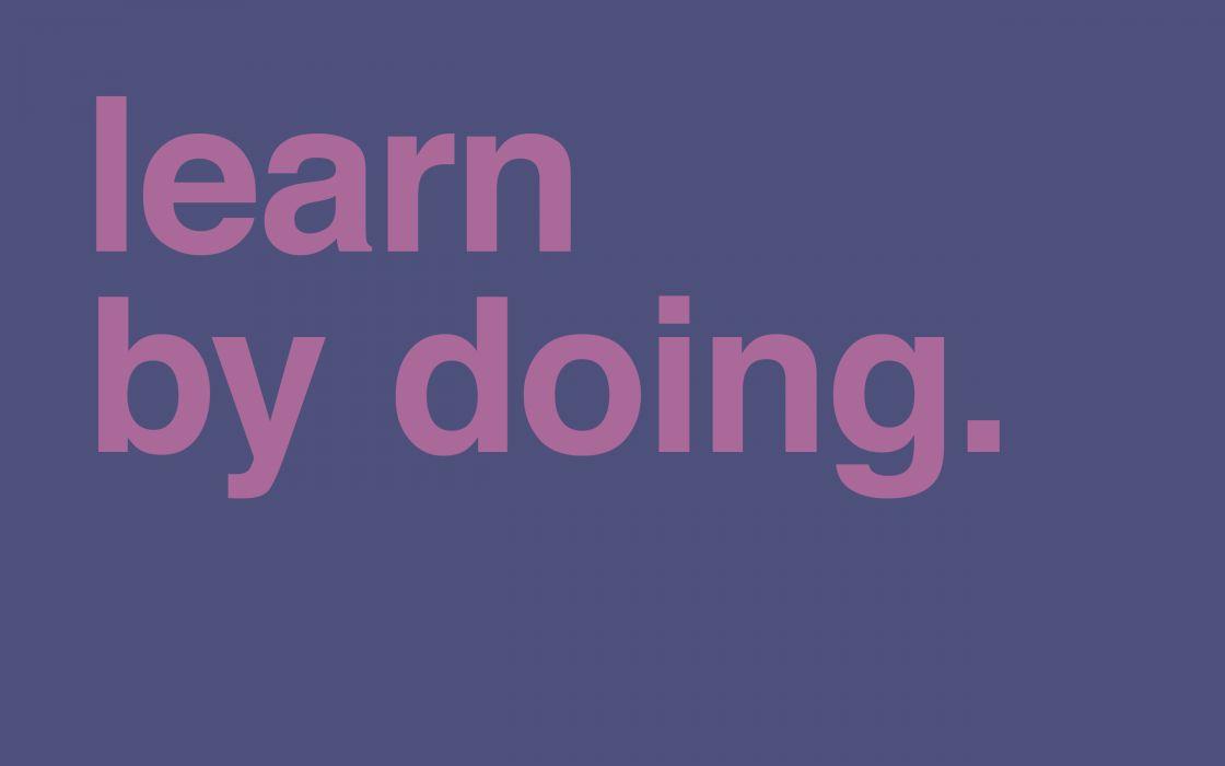 Minimalistic learn wallpaper