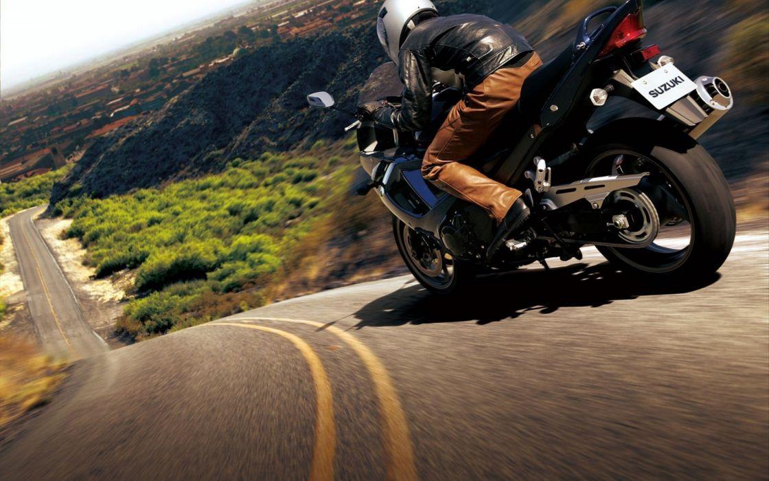 Suzuki roads vehicles motorbikes motorcycles wallpaper
