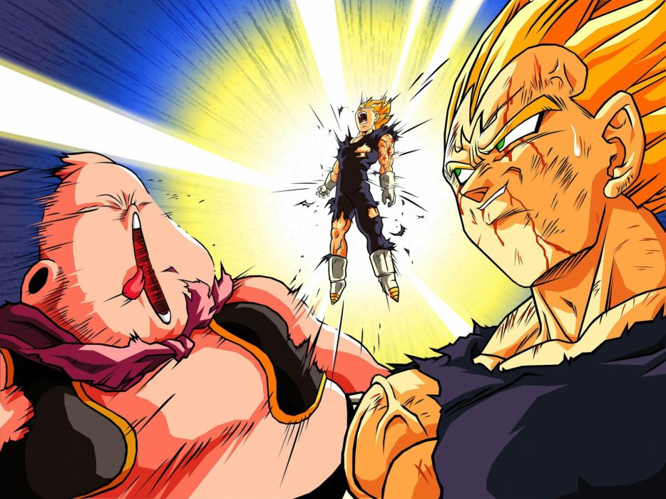 Vegeta buu anime dragon ball z wallpaper
