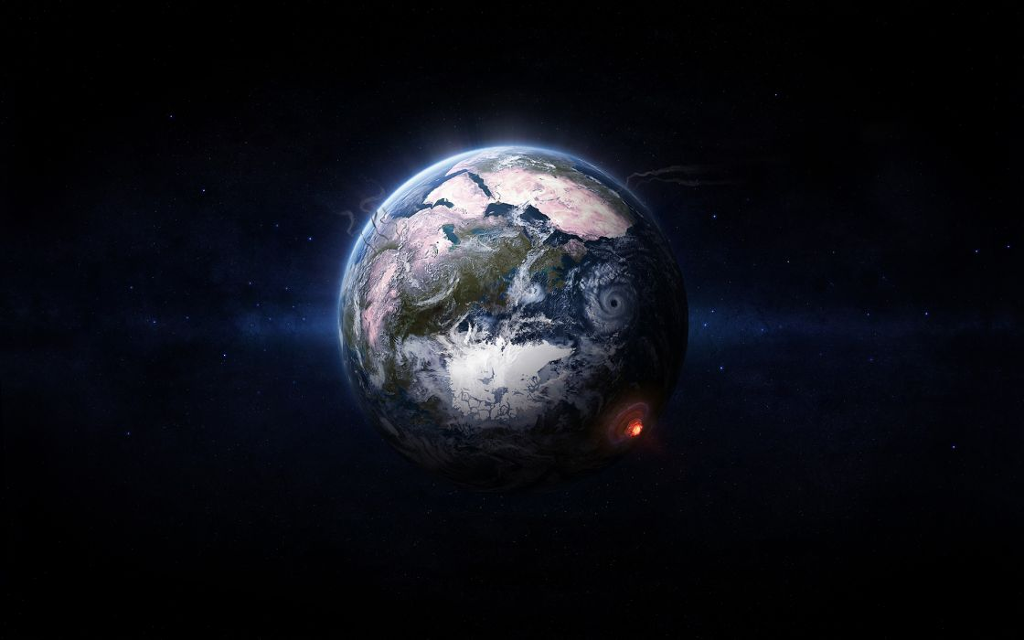 Planets earth space art wallpaper
