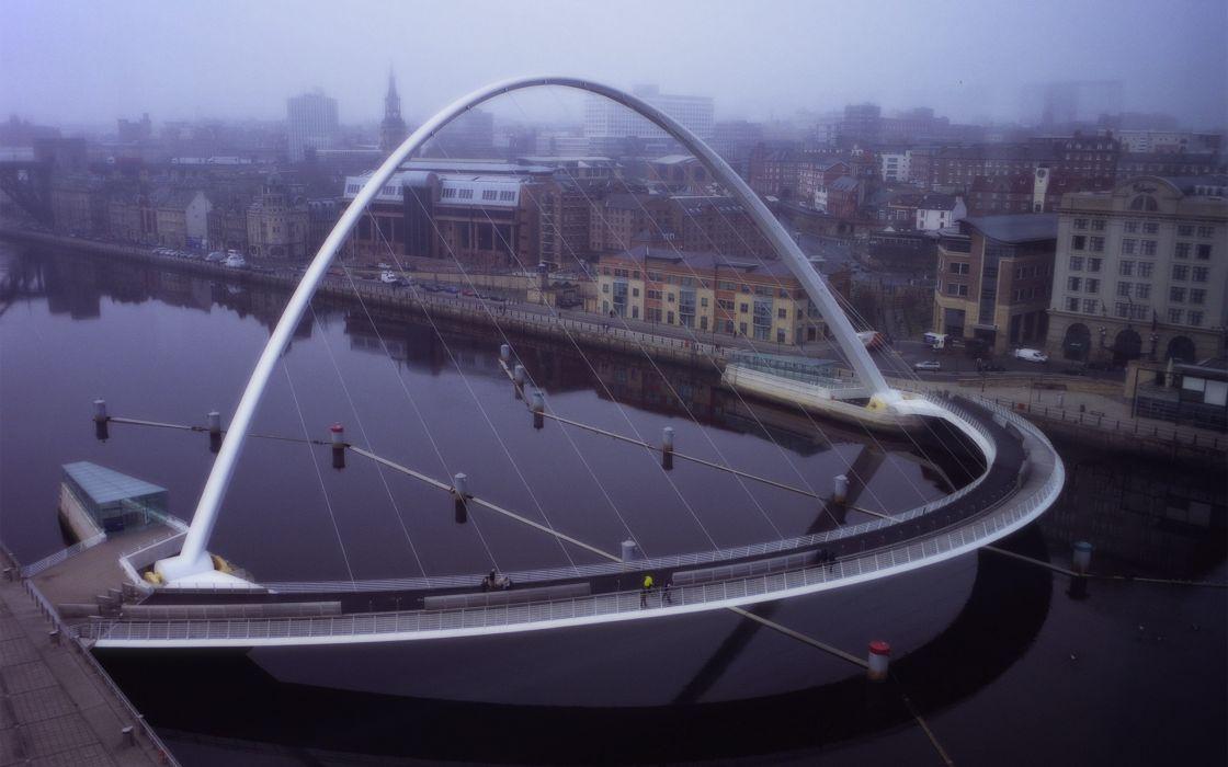 Architecture bridges millenium wallpaper