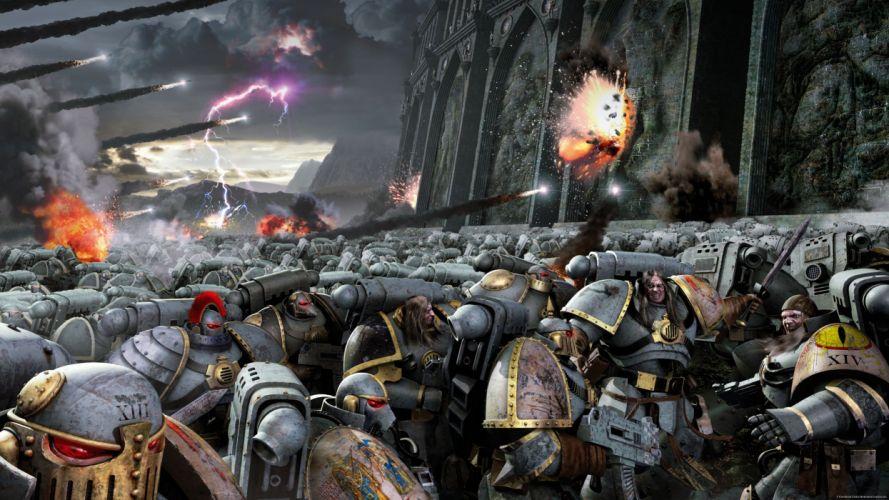 Warhammer 40k space marines science fiction wallpaper