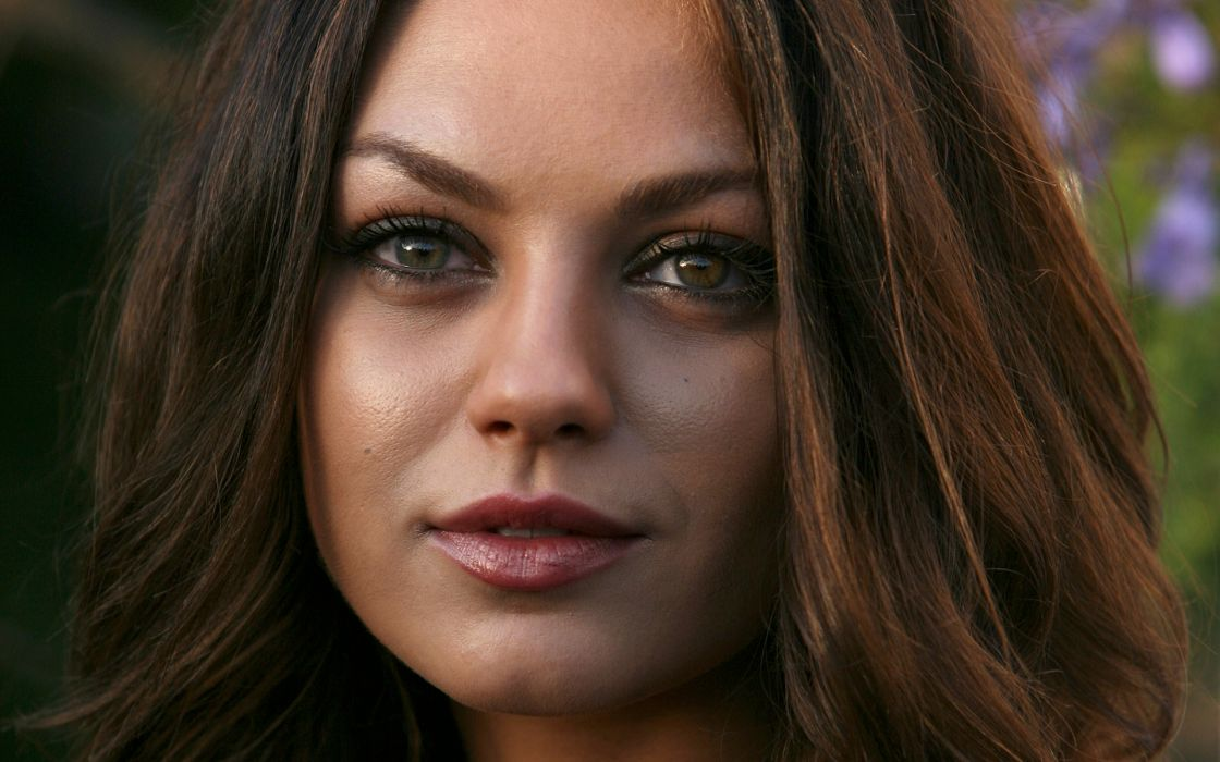 Women mila kunis actress faces wallpaper