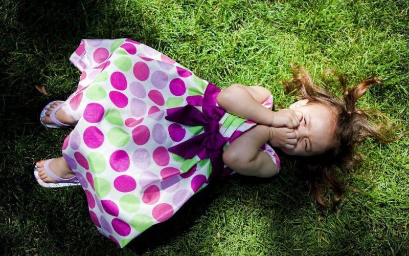Women dress kids grass people smiling wallpaper