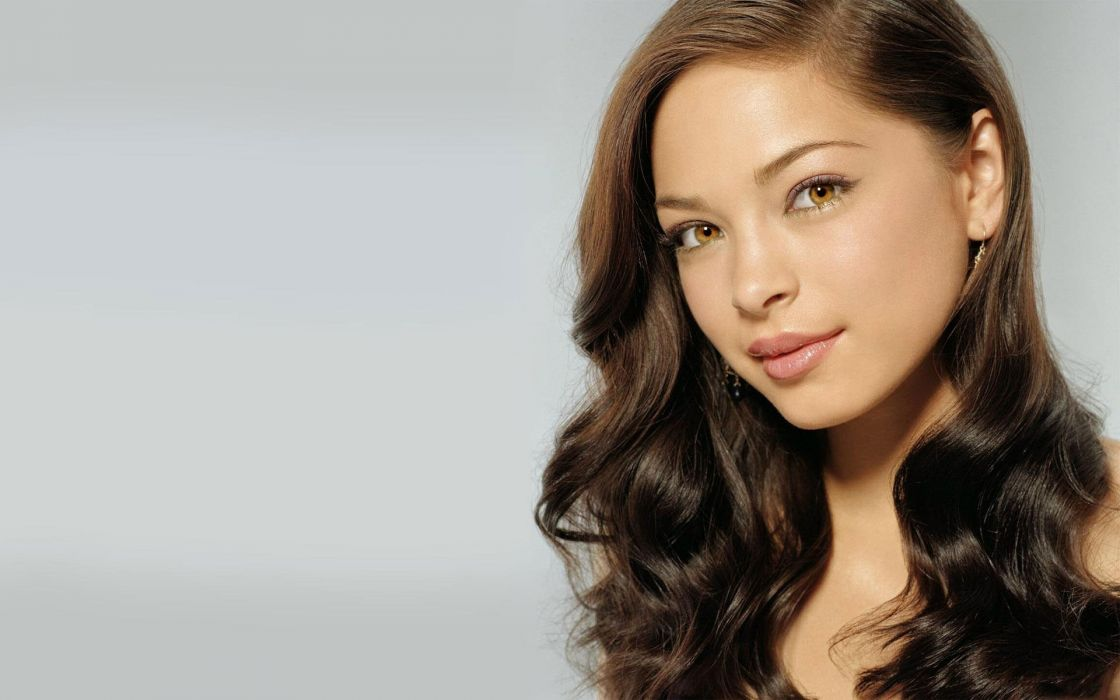 Brunettes women models kristin kreuk faces wallpaper