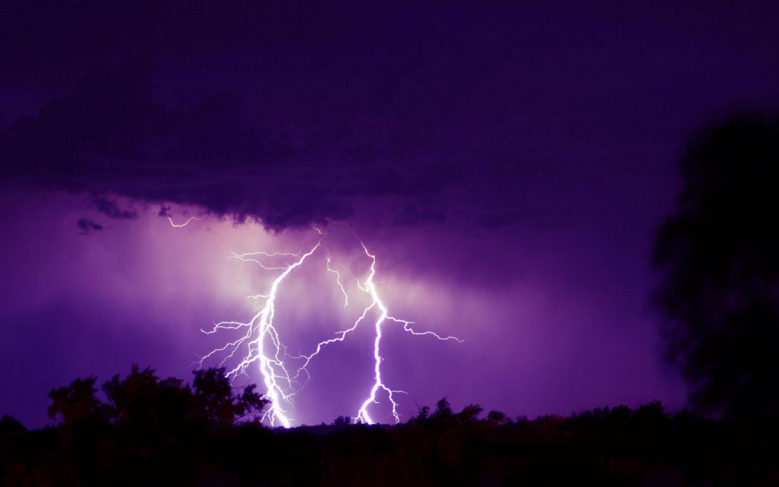 Nature lightning skyscapes wallpaper