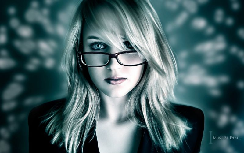 Blondes women blue eyes girls with glasses wallpaper