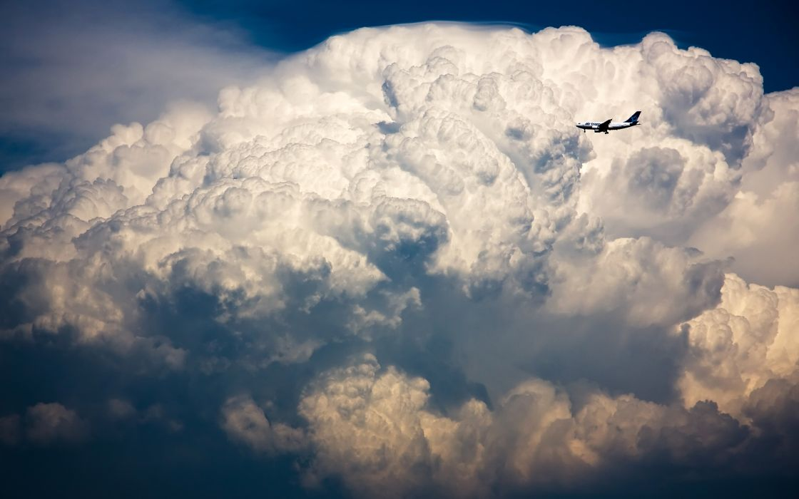 Clouds aircraft cumulonimbus airbus a300 airbus a320 wallpaper