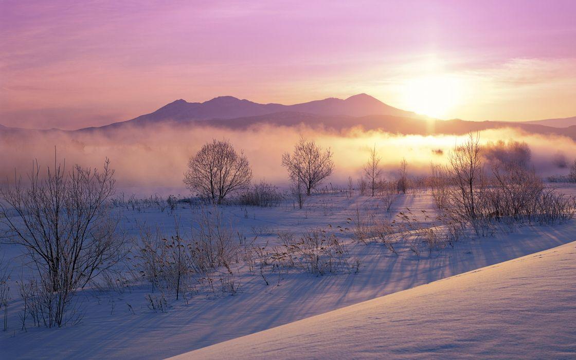 Landscapes snow wallpaper