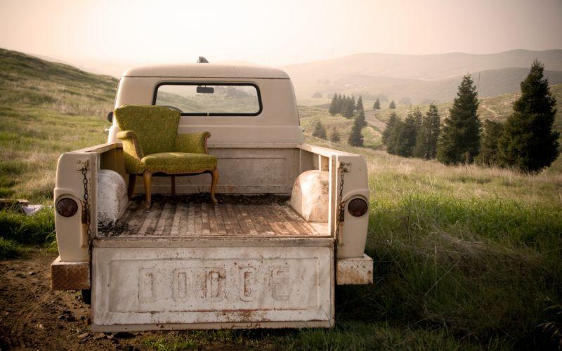 Trucks chairs vehicles wallpaper