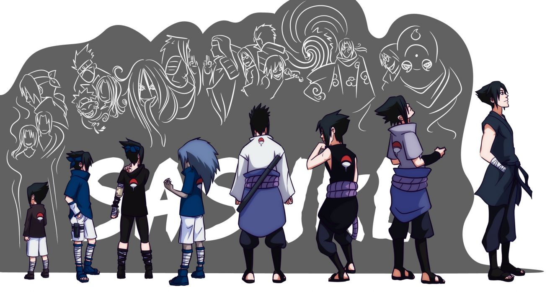 Uchiha sasuke naruto shippuden evolution doodle anime curse mark wallpaper