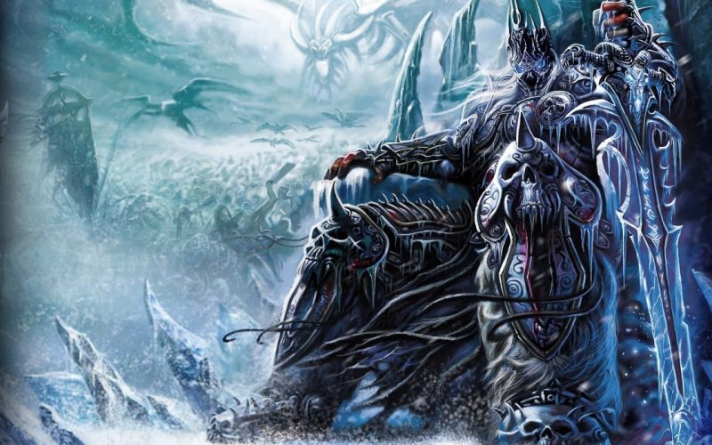 Lich king fantasy art world of warcraft wrath of the lich king wallpaper