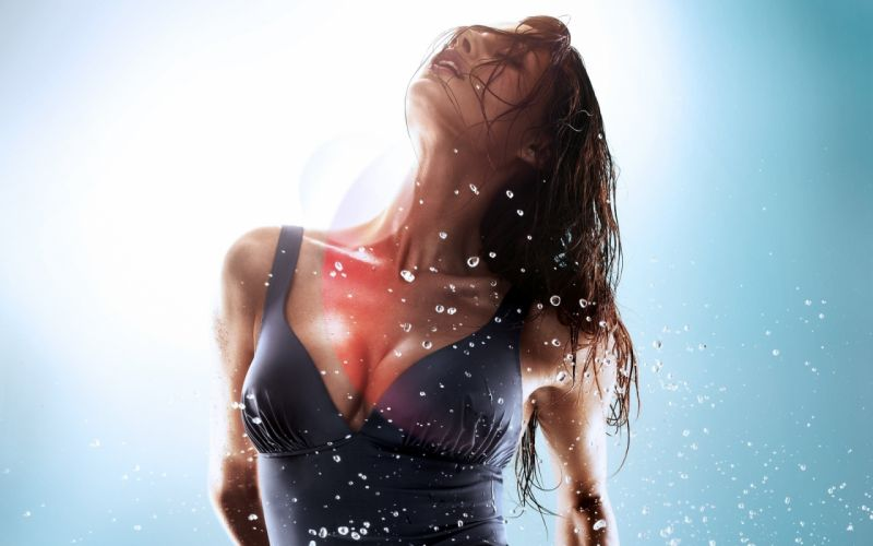 Women wet catrinel menghia swimsuits duplicate wallpaper