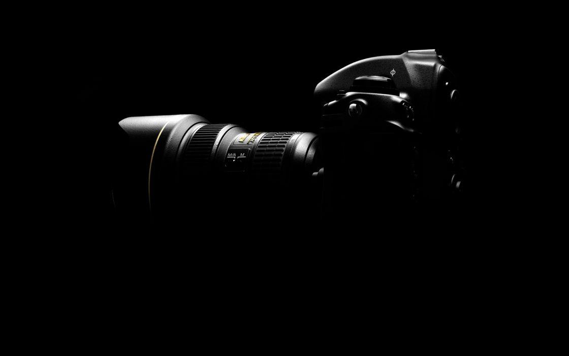 Nikon black background nikon d300 wallpaper