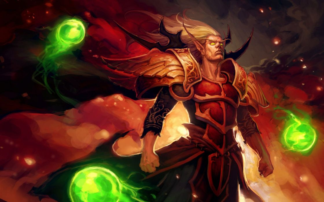 Fantasy world of warcraft blood elf wallpaper