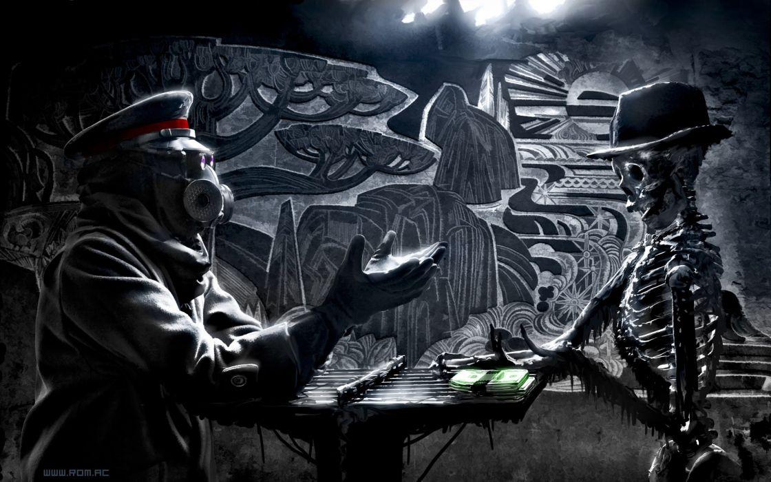 Apocalyptic skeletons romantically apocalyptic vitaly s alexius zee captein wallpaper