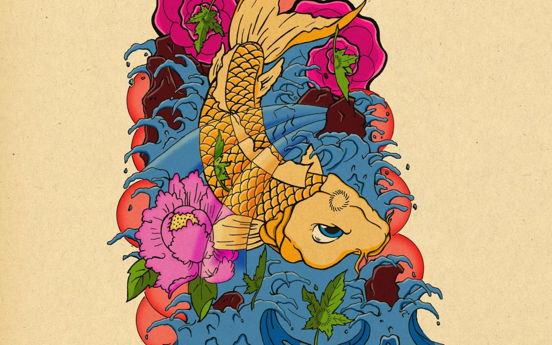 Tattoos carp wallpaper