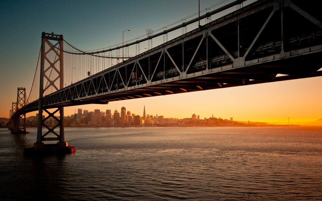 Sunset cityscapes san francisco wallpaper