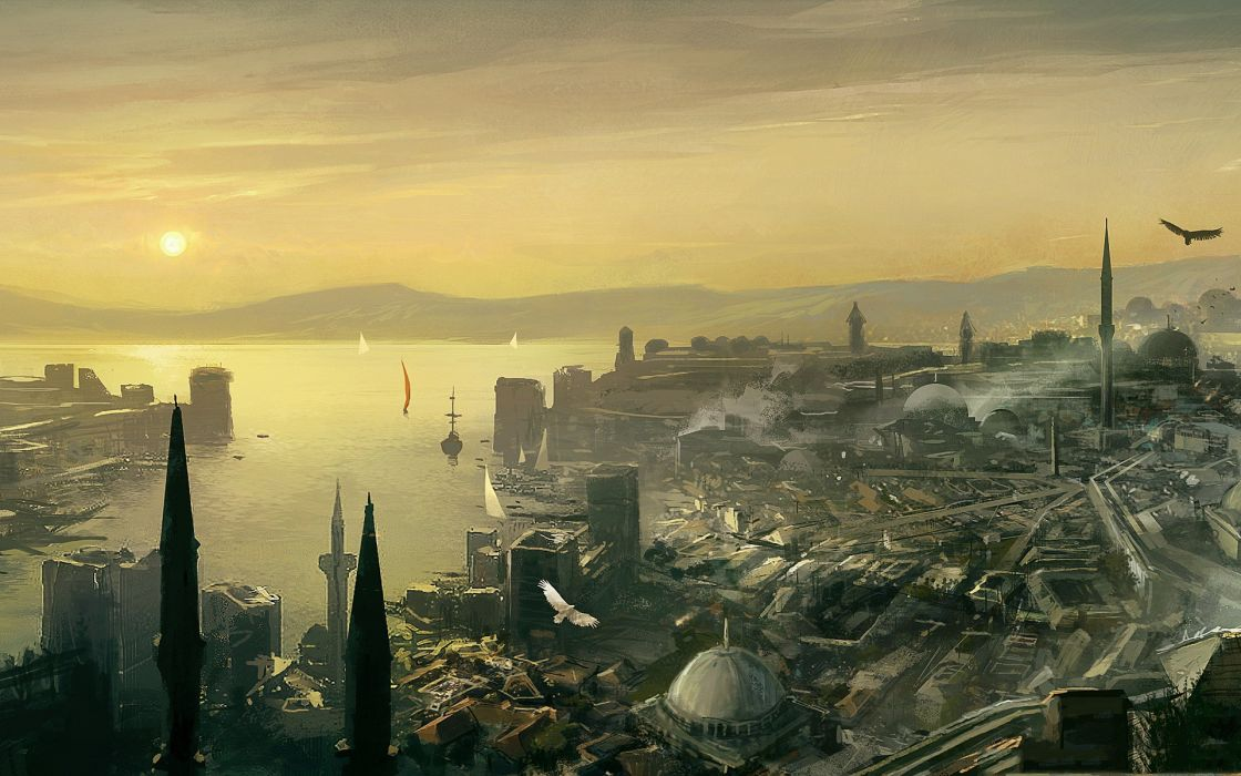 Assassins creed cityscapes artwork wallpaper