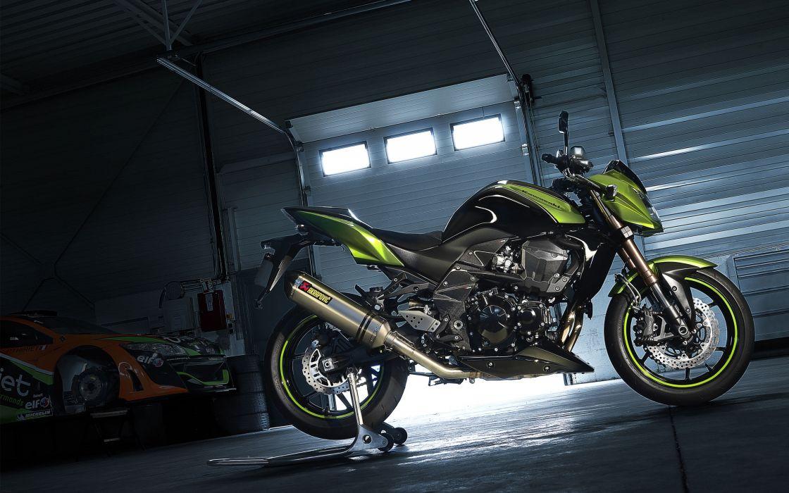Motorbikes garages wallpaper