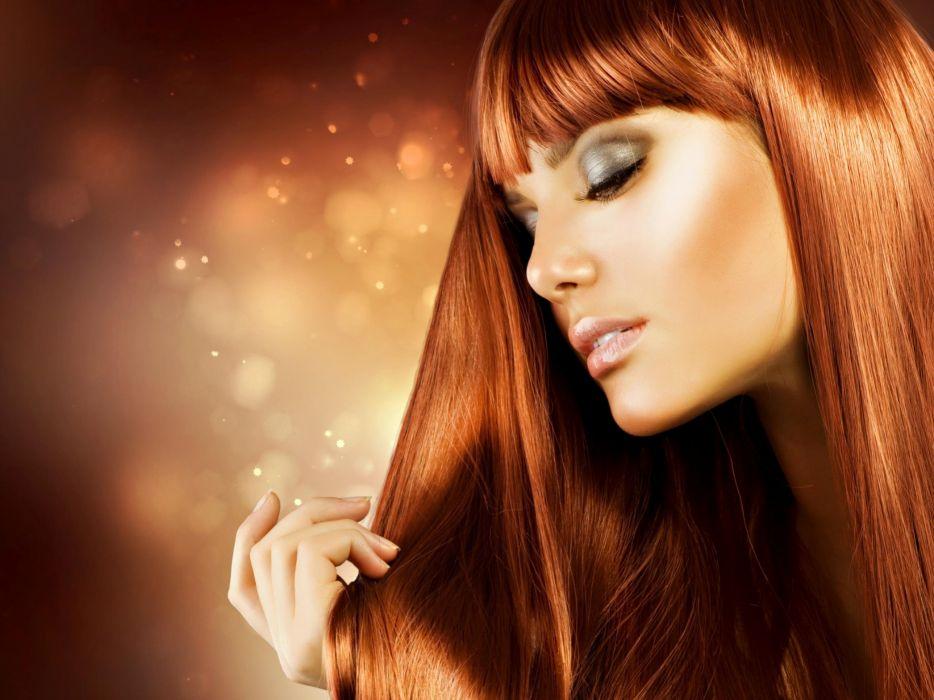 Women redheads models faces portraits wallpaper