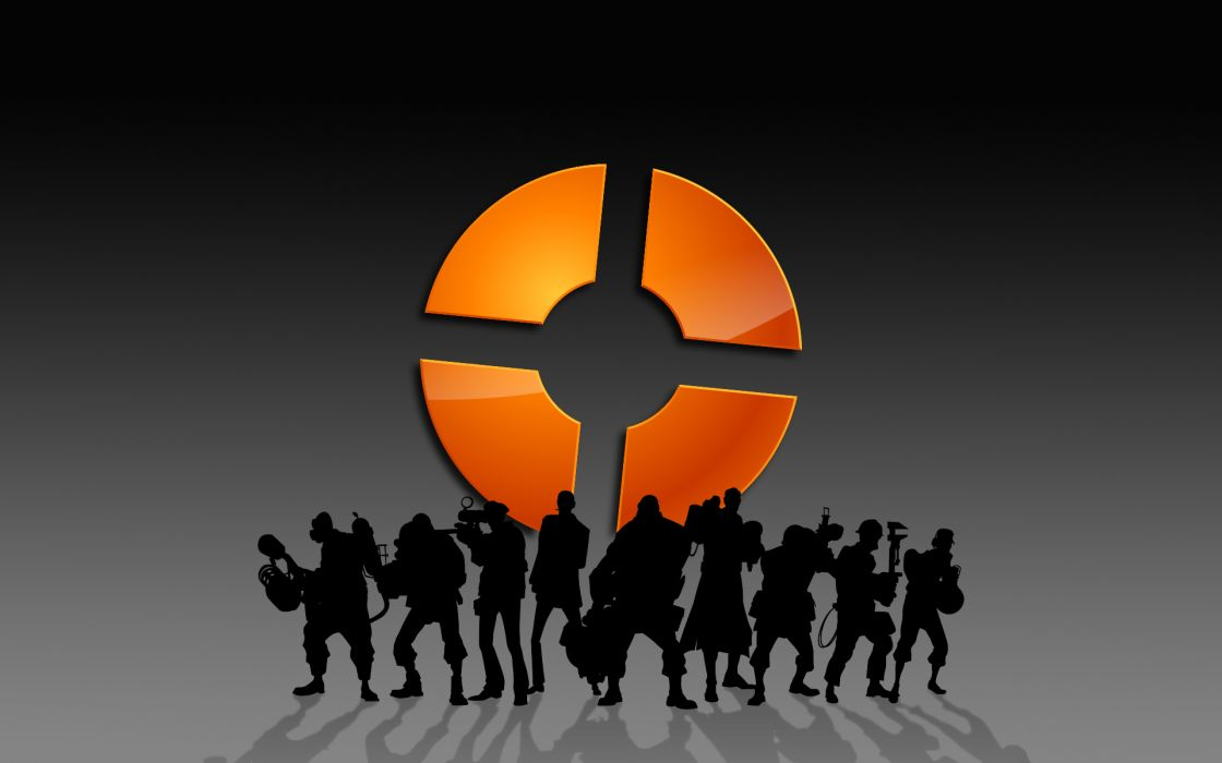 Video games silhouette team fortress 2 wallpaper