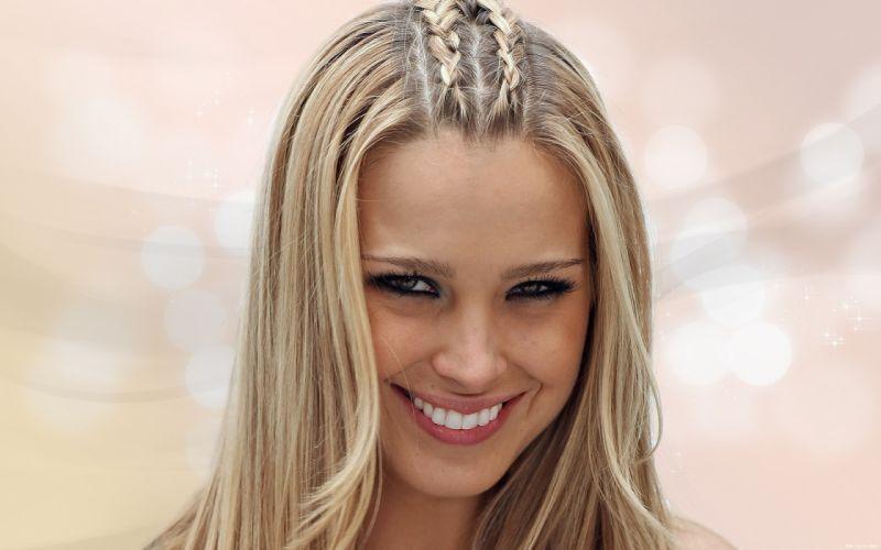 Blondes women long hair celebrity petra nemcova expressionism faces wallpaper