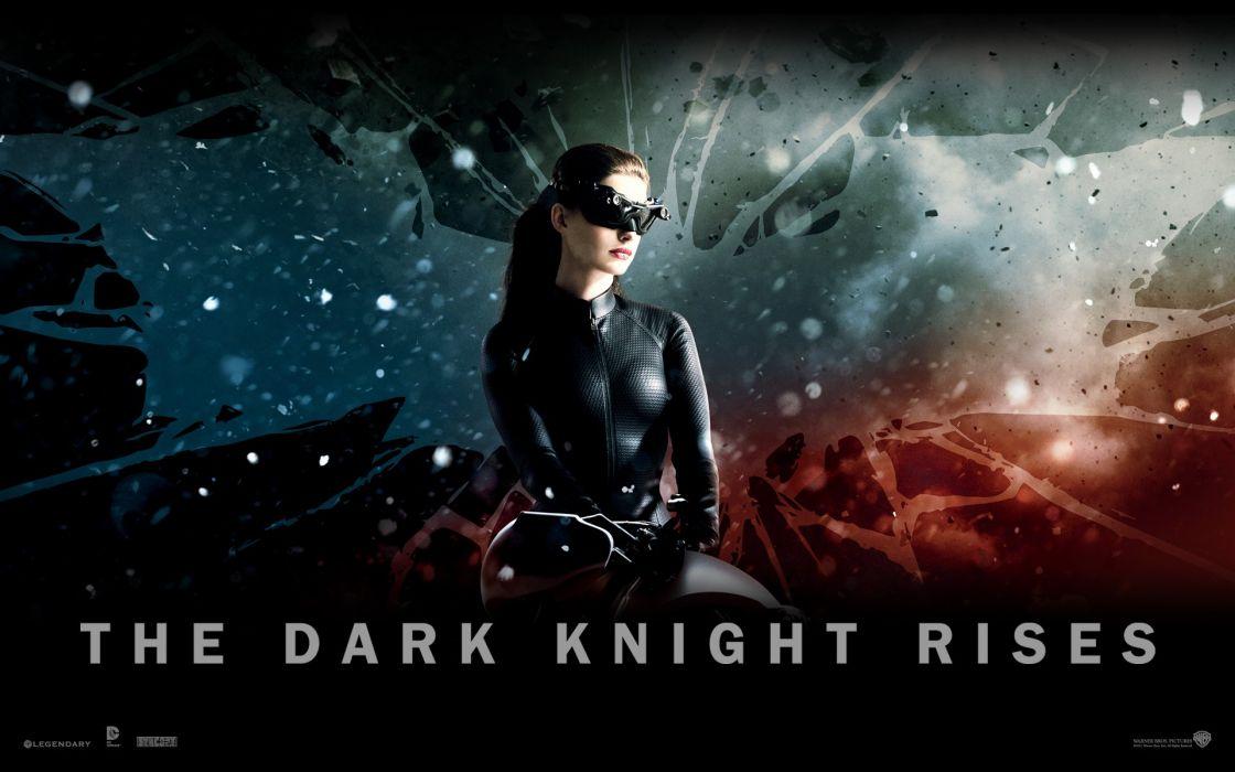 Anne hathaway batman movies catwoman batman the dark knight rises wallpaper