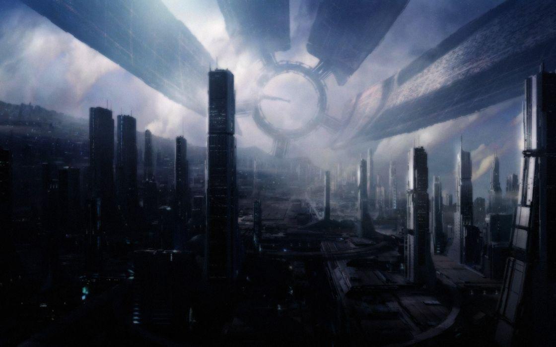 Fantasy cityscapes mass effect fantasy art citadel science fiction wallpaper