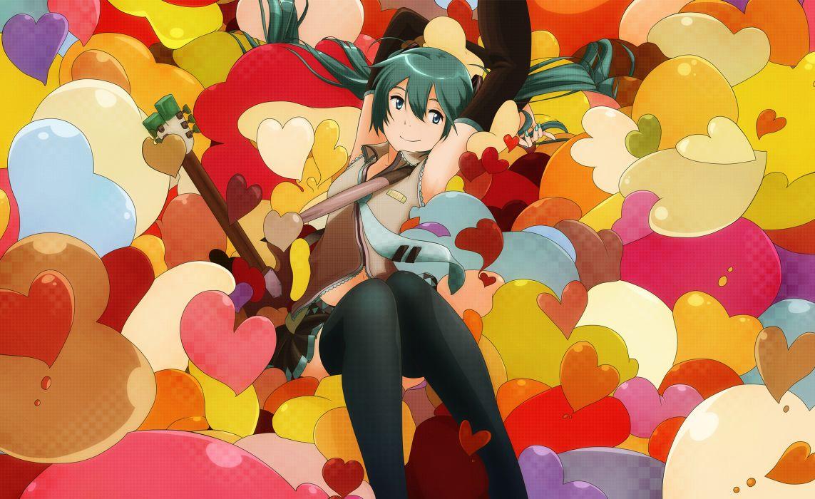 Vocaloid hatsune miku blue eyes blue hair anime girls wallpaper