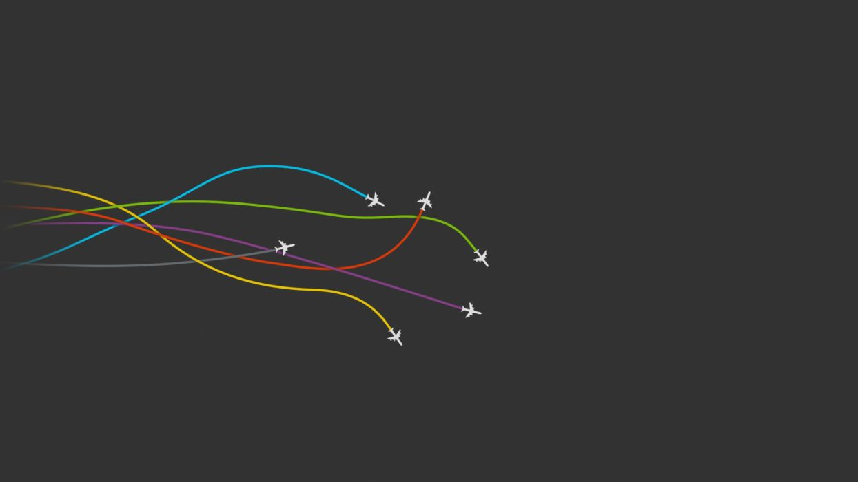 Aircraft minimalistic gray planes simple colors wallpaper