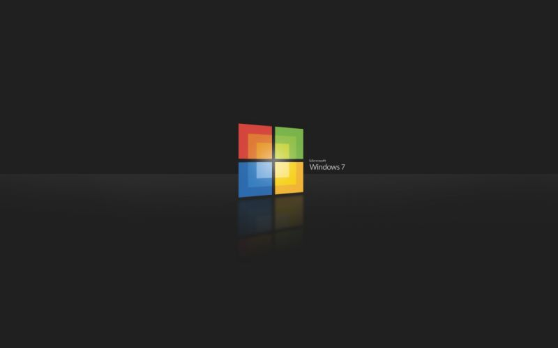 Black windows 7 operating systems 3d wallpaper