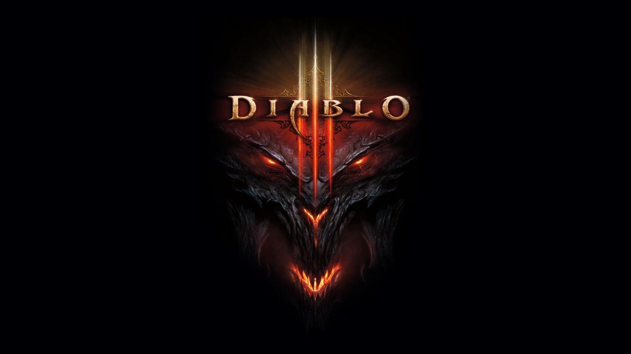 Diablo iii black background wallpaper