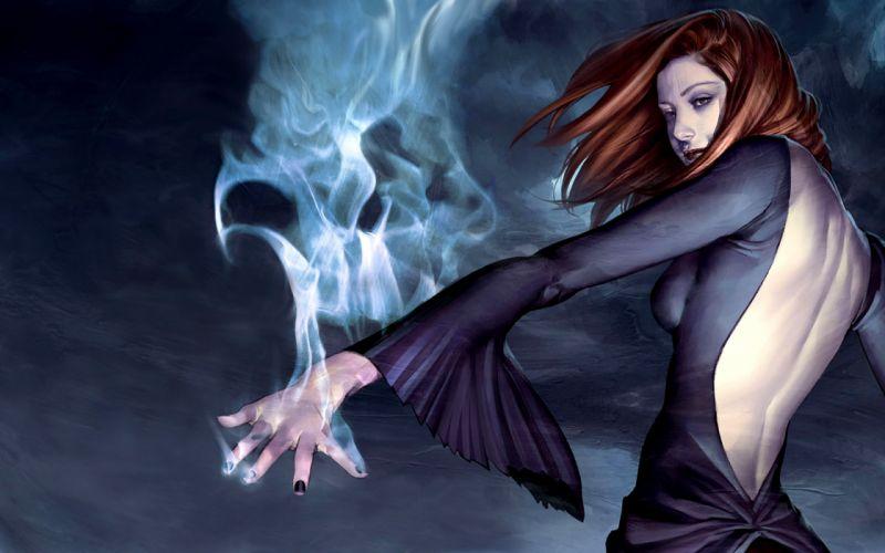Women buffy the vampire slayer fantasy art magic artwork witches willow rosenberg wallpaper