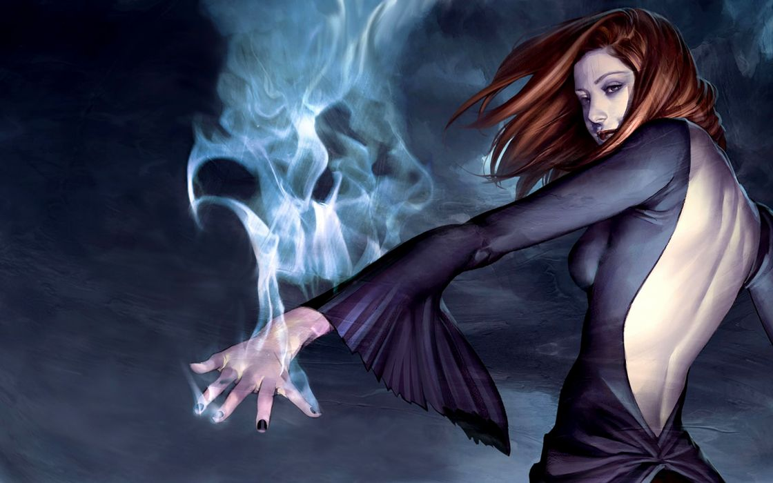 Women buffy the vampire slayer fantasy art magic artwork witches willow rosenberg wallpaper