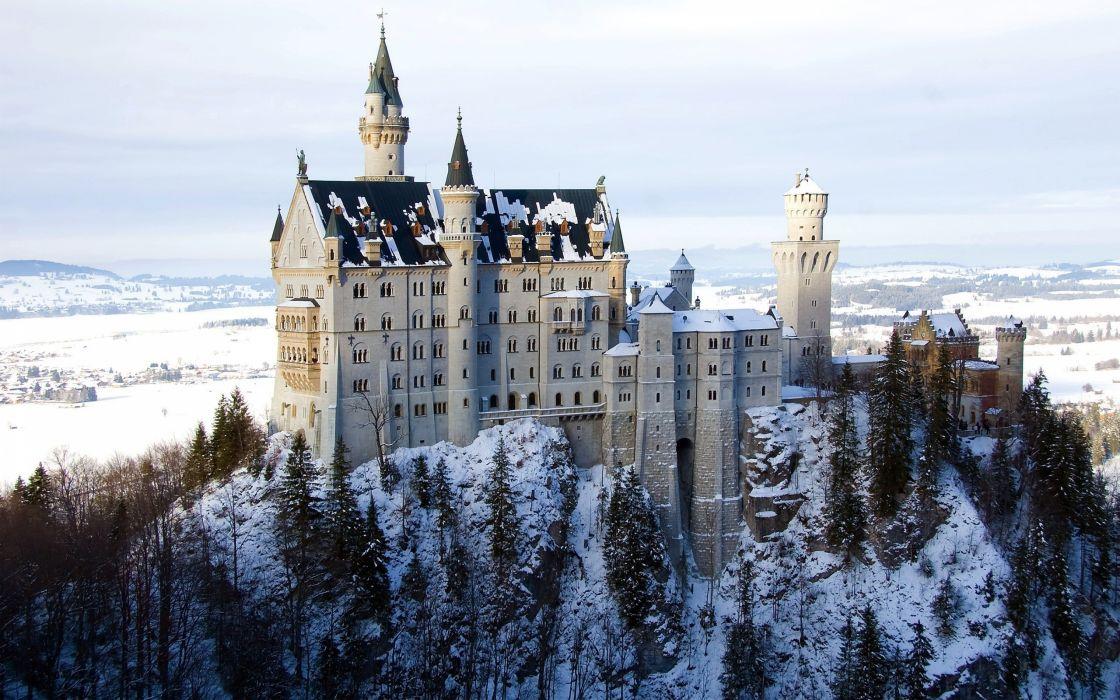 Castles winter wallpaper
