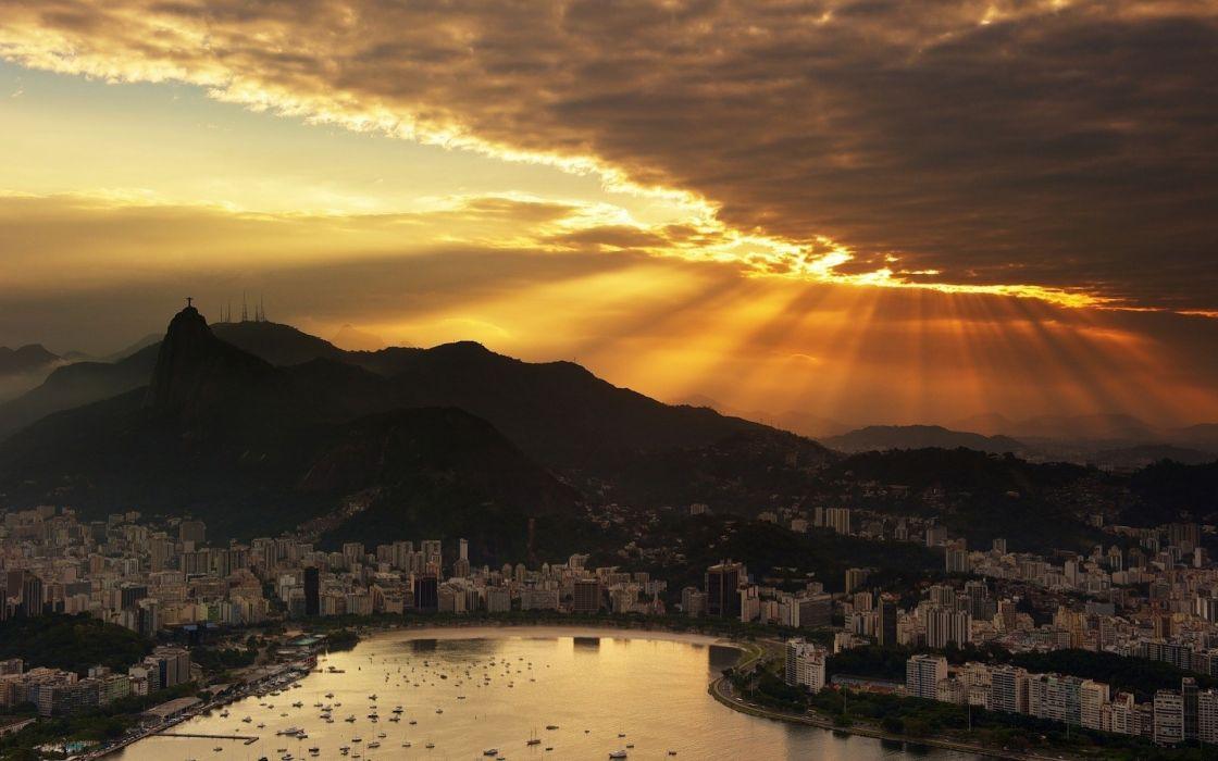 Landscapes cityscapes buildings rio de janeiro city skyline wallpaper